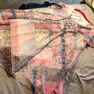 Mumu lace up Kylie dress